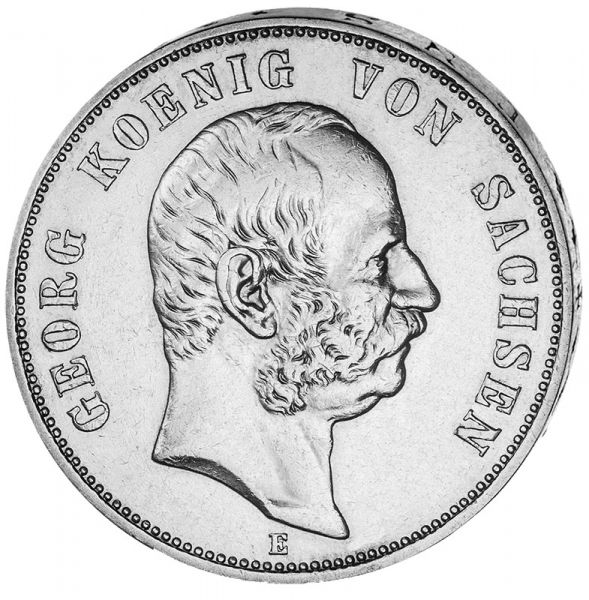 """5 Mark """"Georg König von Sachsen"""""""