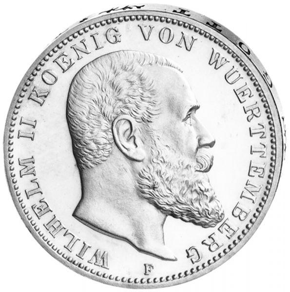 """3 Mark """"Wilhelm II. König von Württemberg"""""""