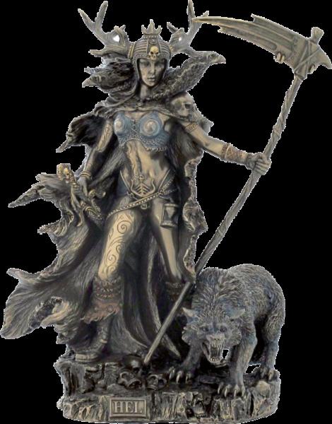 Nordische Göttin der Unterwelt, bronziert