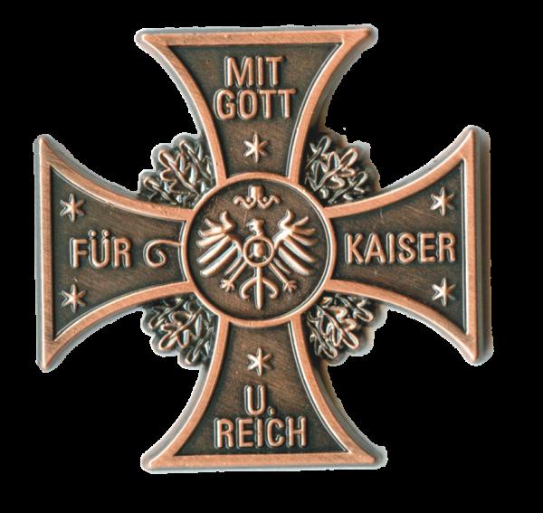 """Patriotisches Kreuz """"Mit Gott für Kaiser und Reich"""""""