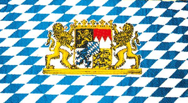 Tischfähnchen Freistaat Bayern