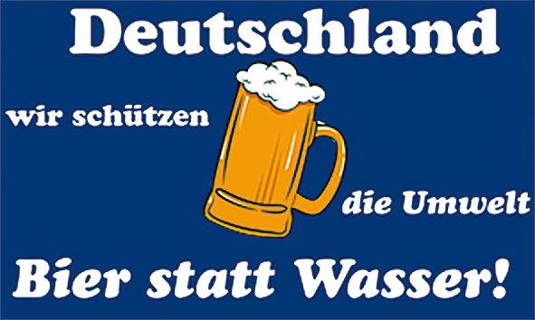 Bier statt Wasser