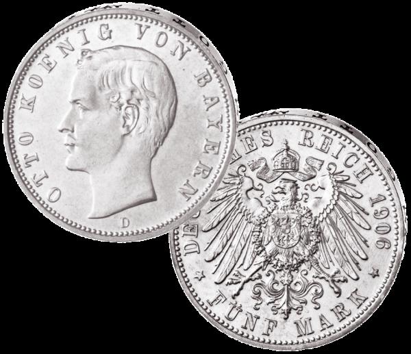 """5 Mark """"Otto König von Bayern"""""""