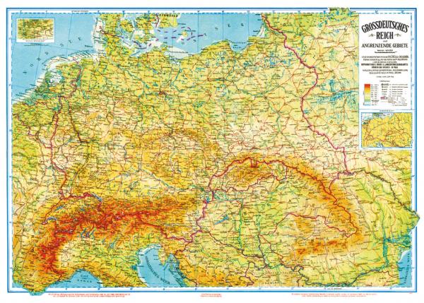 Politisch-historische Karte: Großdeutsches Reich 1942