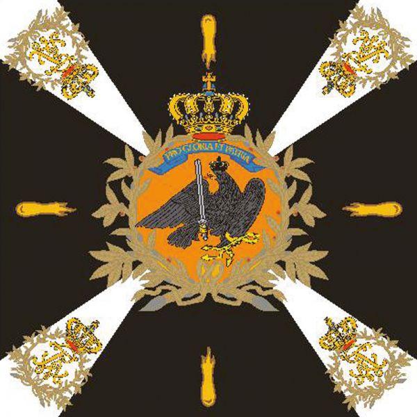 Preußische Fahne des (ostpreußischen) Jäger-Bataillons Nr. 1
