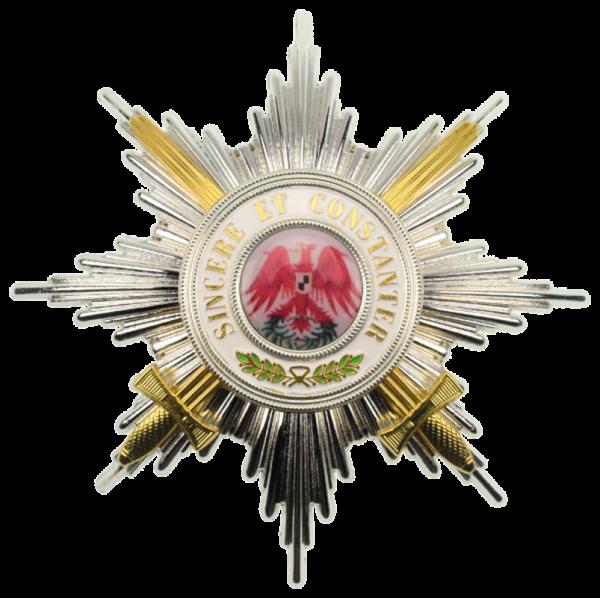 Roter Adler-Orden Bruststern 1. Klasse mit Schwertern