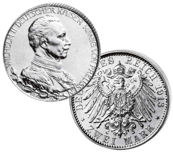 "2 Mark ""Wilhelm II. 1913"""