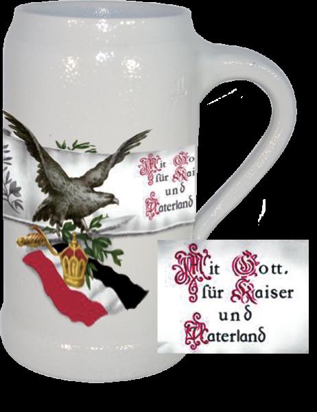 """Bierkrug """"Mit Gott für Kaiser und Vaterland"""""""