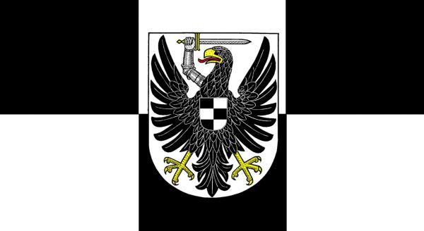 Tischfähnchen Posen-Westpreußen