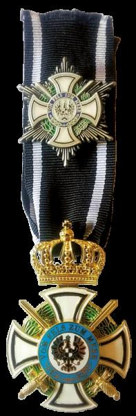 Königlicher Orden Hohenzollern - Kreuz der Ritter mit Schwertern