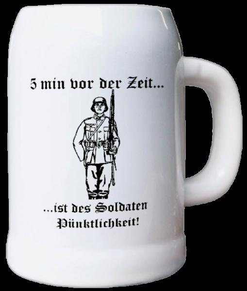 """Bierkrug """"5 Minuten vor der Zeit"""""""