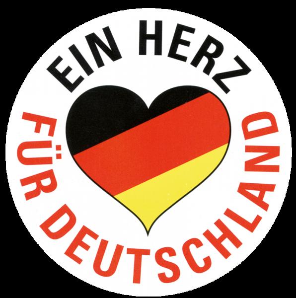Aufkleber Ein Herz Für Deutschland Schwarz Rot Gold