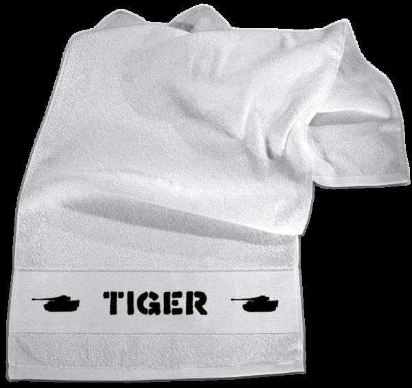 "Handtuch ""Tiger"" weiß, bestickt"