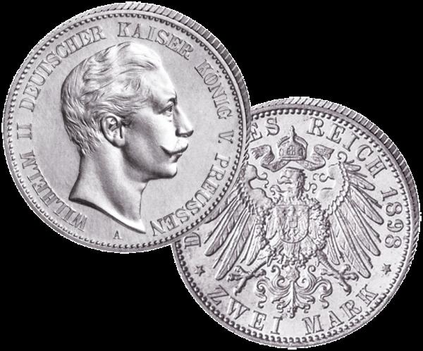 """""""2 Mark - Wilhelm II."""" 1891-12"""
